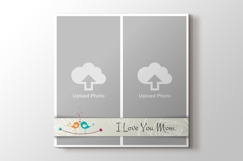 Picture of I love you Mom Two Photos on Canvas Print