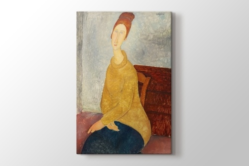 Picture of Amedeo Modigliani - Jeanne Hebuterne with Yellow Sweater