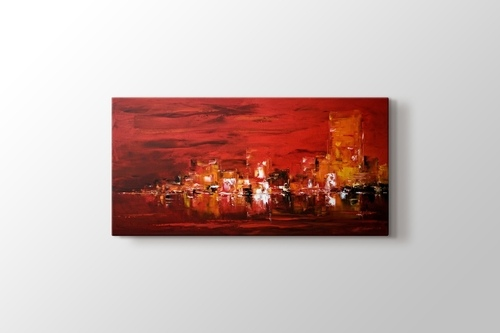 Picture of Oil Painting Abstract City