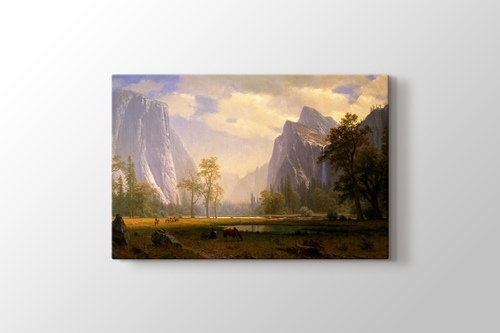 Picture of Looking Up the Yosemite Valley