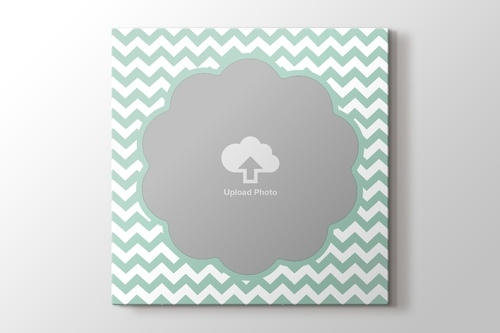 Picture of ZigZag Photo on Canvas - Green Blue