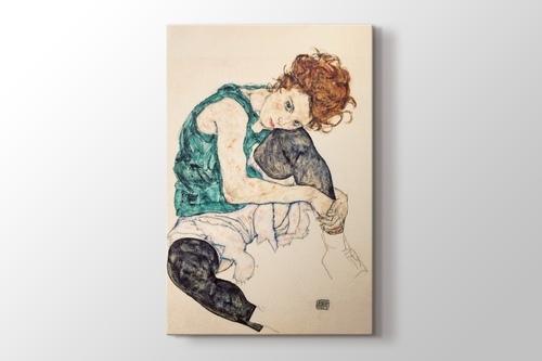 Picture of Sitzende Frau mit hochgezogenem Knie