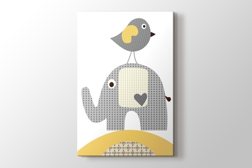 Picture of Bird and Elephant