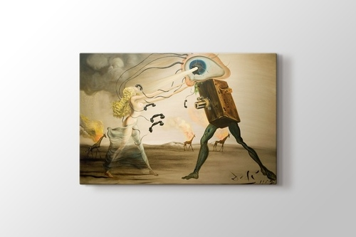 """Ballerina in a Deaths Head  by Dali  14/""""  Paper Print Repro"""