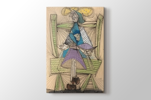 Picture of Pablo Picasso - Dora Maar in a Wicker Chair