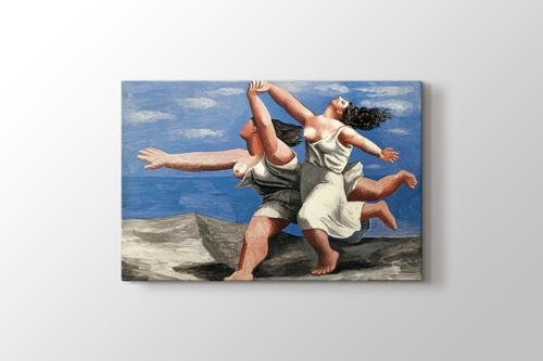 Picture of Two Women Running on the Beach