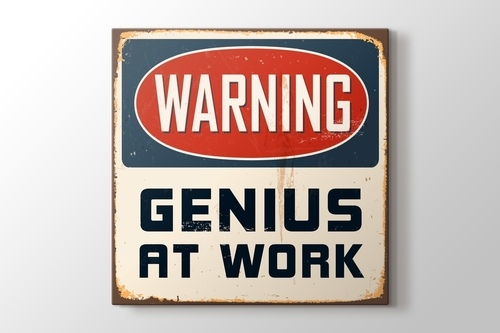 Picture of Warning Genius at Work