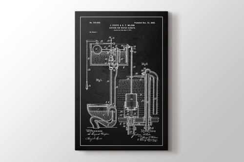 Picture of Water Closet Patent