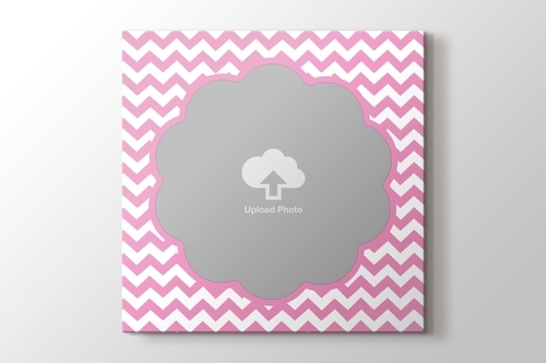 Picture of ZigZag Photo on Canvas - Pink