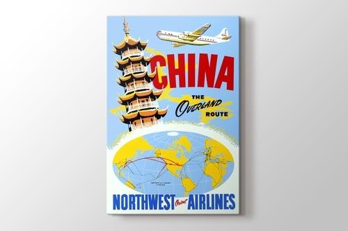 Picture of China Vintage Havayolu Posteri