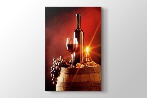 Picture of Wine and Candle