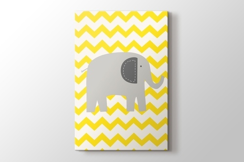 Picture of Elephant and Yellow Lines