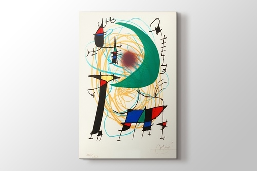 Picture of Joan Miro - The Green Moon