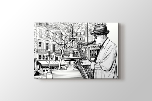 Picture of Saxophone Player
