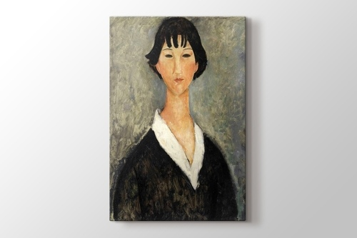 Picture of Amedeo Modigliani - Jeune Fille aux Cheveux Noirs