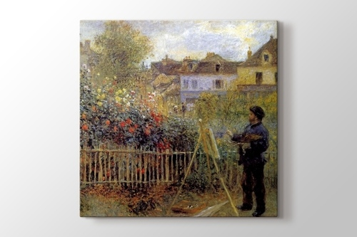Picture of Monet Painting in His Garden