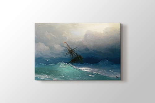 Picture of Ship on Stormy Seas