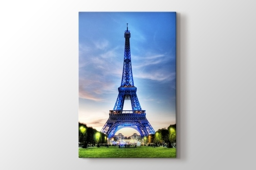 Picture of Eiffel Tower in Blue