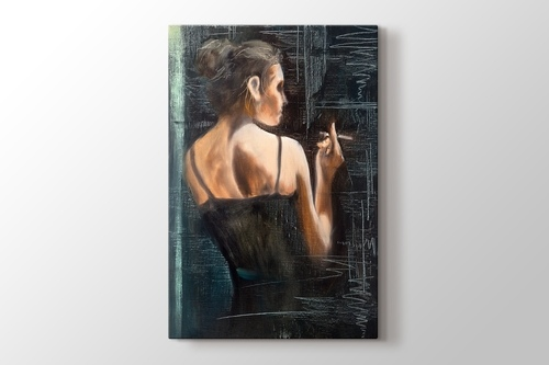 Picture of Girl with Cigarette