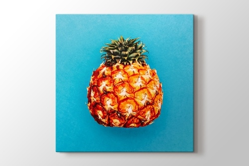 Picture of Pineapple on Blue Background