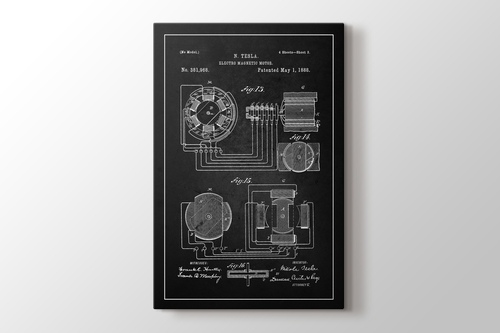 Picture of Tesla Electro Magnetic Motor Patent