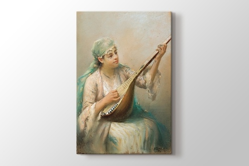 Picture of Woman Playing a String Instrument