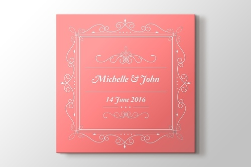 Picture of Wedding Announcement Canvas Print
