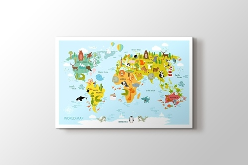 Picture of Baby World Map & Animals