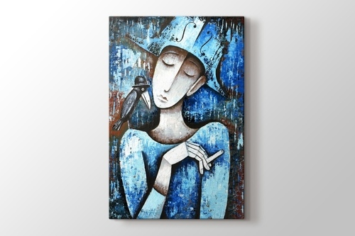 Picture of Woman in Blue