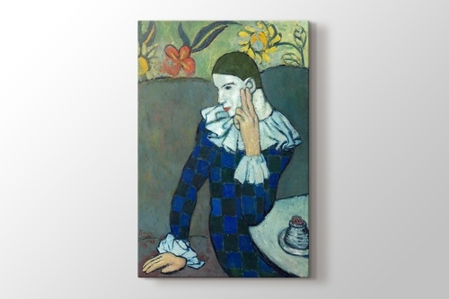 Picture of Pablo Picasso - Seated Harlequin