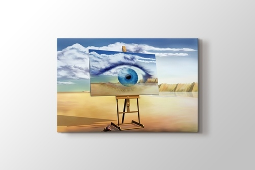 Picture of Eye on Canvas Abstract
