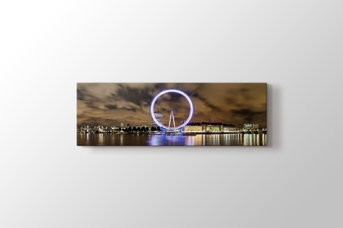 Picture of Wide Panorama of London Eye and River Thames
