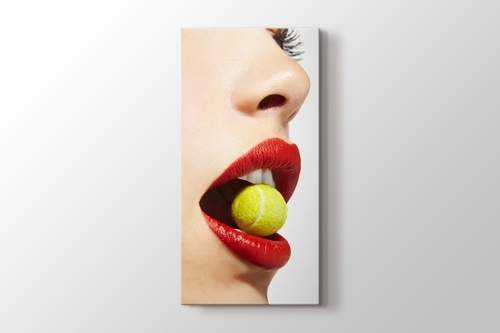 Picture of Tennis Ball and Red Lips