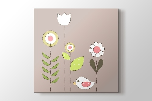 Picture of Bird and Flowers