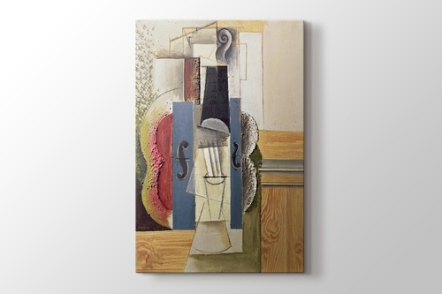 Picture of Violin Hanging on the Wall