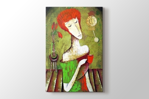 Picture of Woman Drinking Tea