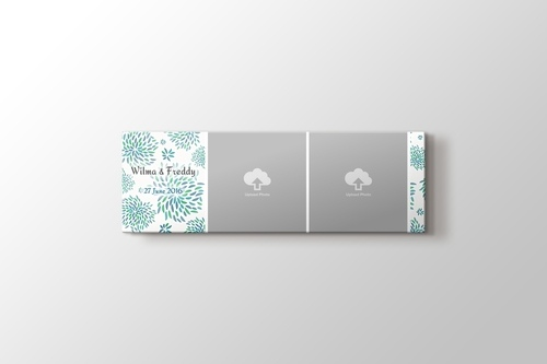 Picture of Panoramic Flower Pattern Photos on Canvas Print