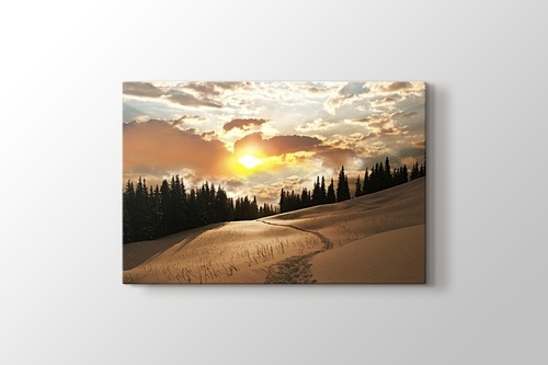 Picture of Sunset over Snowy Mountain