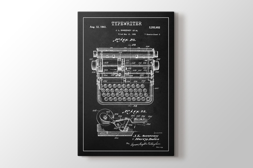 Picture of Typewriter Patent