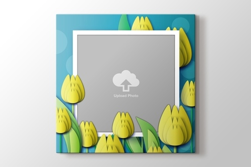 Picture of Yellow Tulips Photo on Canvas