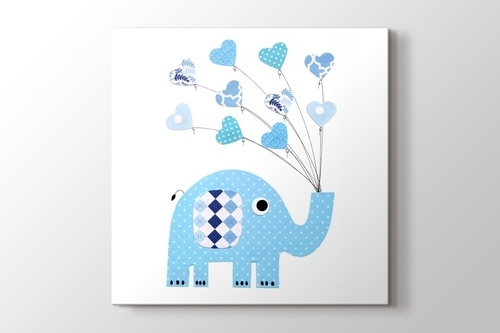 Picture of Blue Dot Elephant