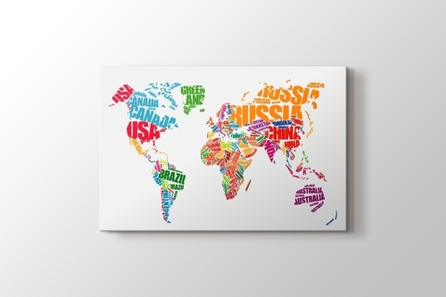 Picture of World Map Typography
