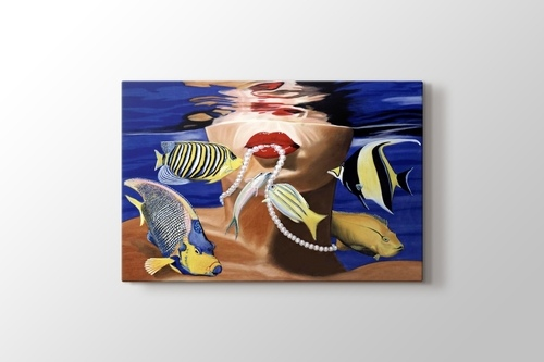 Picture of Fish Girl with Pearl Neckles