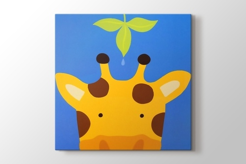 Picture of Giraffe and the Leaf
