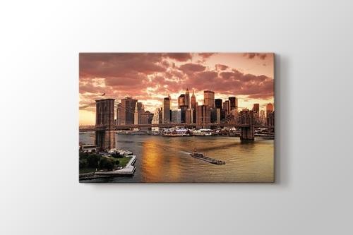 Picture of Brooklyn Bridge Sunset