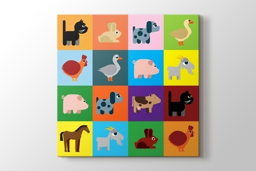 Picture of Colored Animals