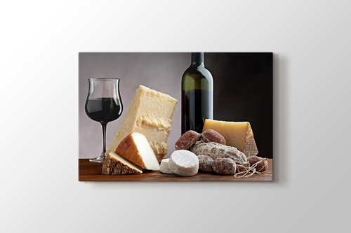 Picture of Cheese Platter and Wine