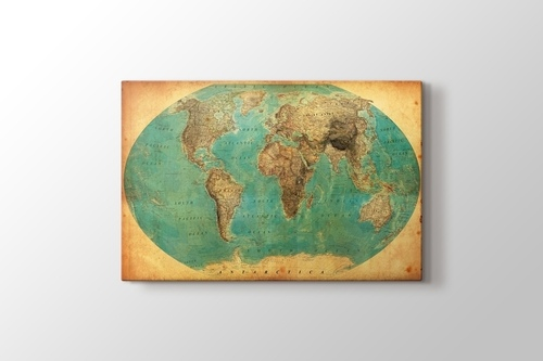 Picture of Vintage World Map 1938