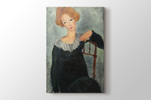 Picture of Amedeo Modigliani - Woman with Red Hair