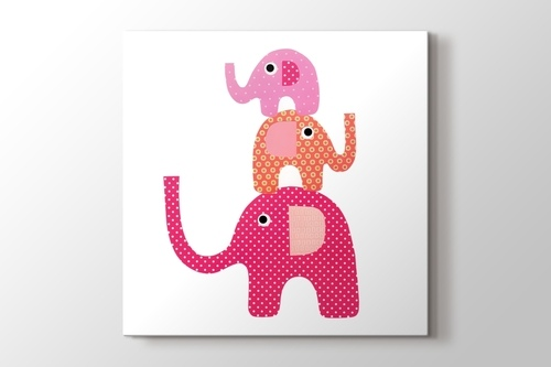 Picture of Three Pink Elephant